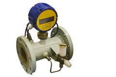 Modern industrial high accuracy digital gas meter Stock Images