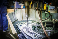 Modern industrial lathe Royalty Free Stock Image