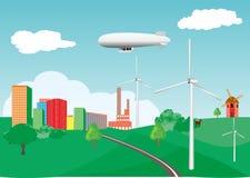 Modern industrieel landschap Stock Afbeeldingen