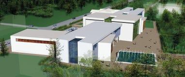Modern industriell byggnad Royaltyfria Foton