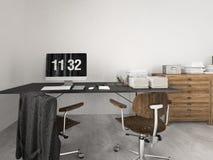 Modern industriell vind framförande 3d Arkivbild