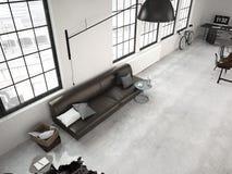 Modern industriell vind framförande 3d Fotografering för Bildbyråer