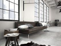 Modern industriell vind framförande 3d Arkivfoto