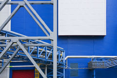 Modern industry. Plant with blue wall Stock Photography