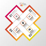 Modern infinite square origami style options banner. Vector illustration Stock Image