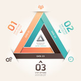Modern infinite triangle origami number banner. Royalty Free Stock Photos