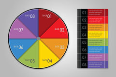 Modern Infographic Pie Chart. Modern info graphic page layout Stock Photos
