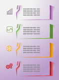 Modern info graphics colorful Royalty Free Stock Photography
