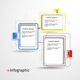 Modern infogfaphic paper options Stock Photography