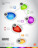 Modern Infografics template Stock Photography
