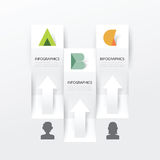 Modern Infographic banner design template. vector illustration Royalty Free Stock Images