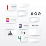 Modern Infographic banner design template. vector illustration Royalty Free Stock Photos