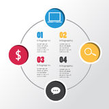 Modern infographic for business concept Royalty Free Stock Photos