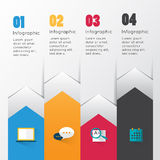 Modern infographic for business concept. Stock Photo