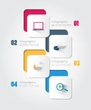 Modern infographic for business concept. Royalty Free Stock Photography