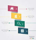 Modern infographic for business concept Stock Image