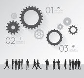 Modern infographic for business project with silhouette people. Royalty Free Stock Images