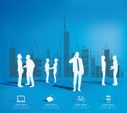 Modern infographic for business project with silhouette people. Stock Image