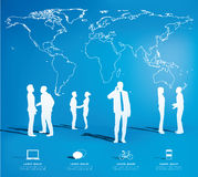 Modern infographic for business project with silhouette people. Royalty Free Stock Image
