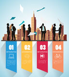 Modern infographic for business project with silhouette people. Royalty Free Stock Photography