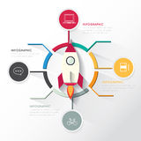 Modern infographic for business startup Royalty Free Stock Photography