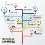 Unique Business Infographics options. Vector infographic element. - Vector