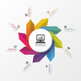 Modern infographic circle with arrows. Vector illustration.  Royalty Free Stock Images