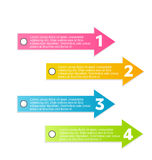 Modern infographic colorful design template Stock Photography