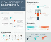 Modern infographic data visualization with people and timelines Stock Images