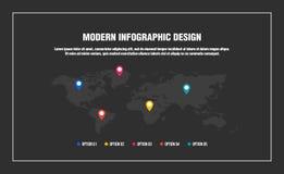 Modern infographic design royaltyfri illustrationer
