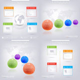 Modern infographic design with place for your text Royalty Free Stock Images