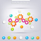 Modern infographic design with place for your text Stock Photography