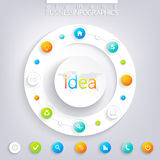 Modern infographic design with place for your text Royalty Free Stock Photos