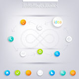 Modern infographic design with place for your text Stock Photo