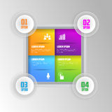 Modern Infographic Design. With shinny Colors with 4 options Stock Photos