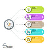 Modern infographic design template Royalty Free Stock Photo