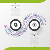Modern Infographic Design Template. 2 options abstract concept. Vector illustration Stock Image