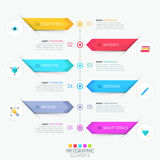 Modern infographic design template Royalty Free Stock Photography