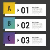 Modern infographic design template. Three steps. Vector Royalty Free Stock Photography