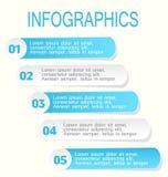 Modern infographic designmallblått och vit royaltyfri illustrationer
