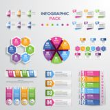 Modern infographic element and diagram bundles. Infographic element pack for your business presentation, paper and other project Stock Photos