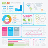 Modern infographic elements in flat style vector e Royalty Free Stock Images