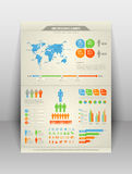 Modern infographic elements Royalty Free Stock Photography