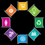 Modern Infographic icon Banners Royalty Free Stock Image