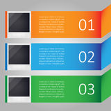 Modern infographic with images Royalty Free Stock Photos