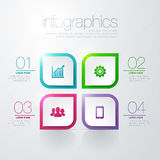 Modern  infographic. Modern info graphic for presentation and all media Stock Photography