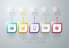 Modern  infographic. Modern info graphic for presentation and all media Royalty Free Stock Photography