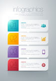 Modern  infographic. Modern info graphic for presentation and all media Royalty Free Stock Photos