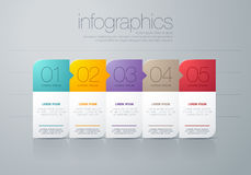 Modern  infographic Stock Photography