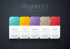Modern  infographic. Modern info graphic for presentation and all media Stock Photo